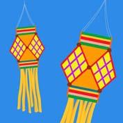 Diwali Lanterns (Printable Card for Kids)