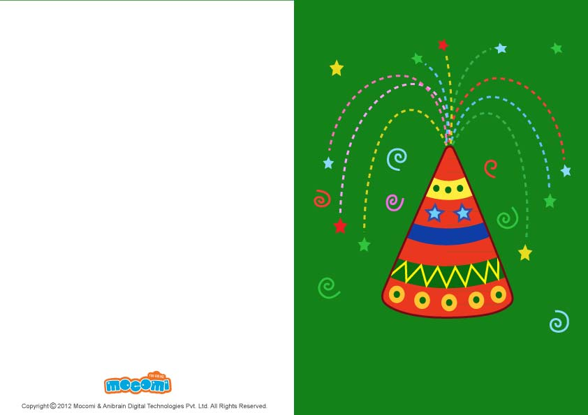 Diwali Anar (Printable Card for Kids)
