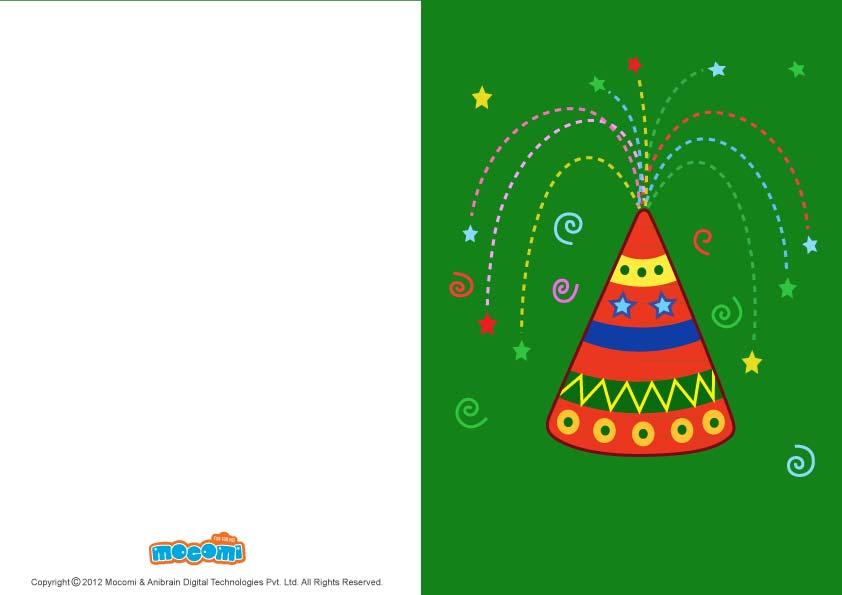 Diwali Anar (Printable Card for Kids)