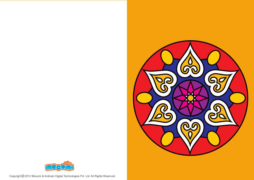Rangoli Designs (Printable Card for Kids)