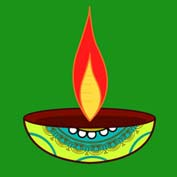 Diwali Lamps (Printable Card for Kids)