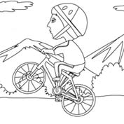 Boy on Bicycle – Colouring Page