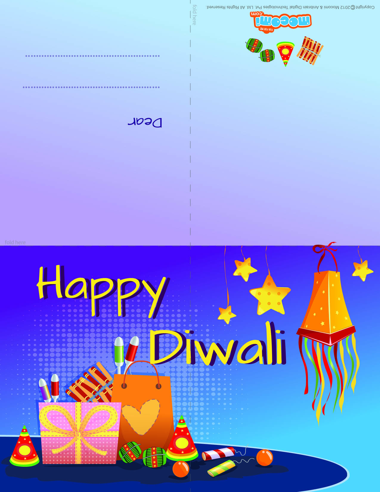 Diwali Firecrackers 2 (Printable Card for Kids)