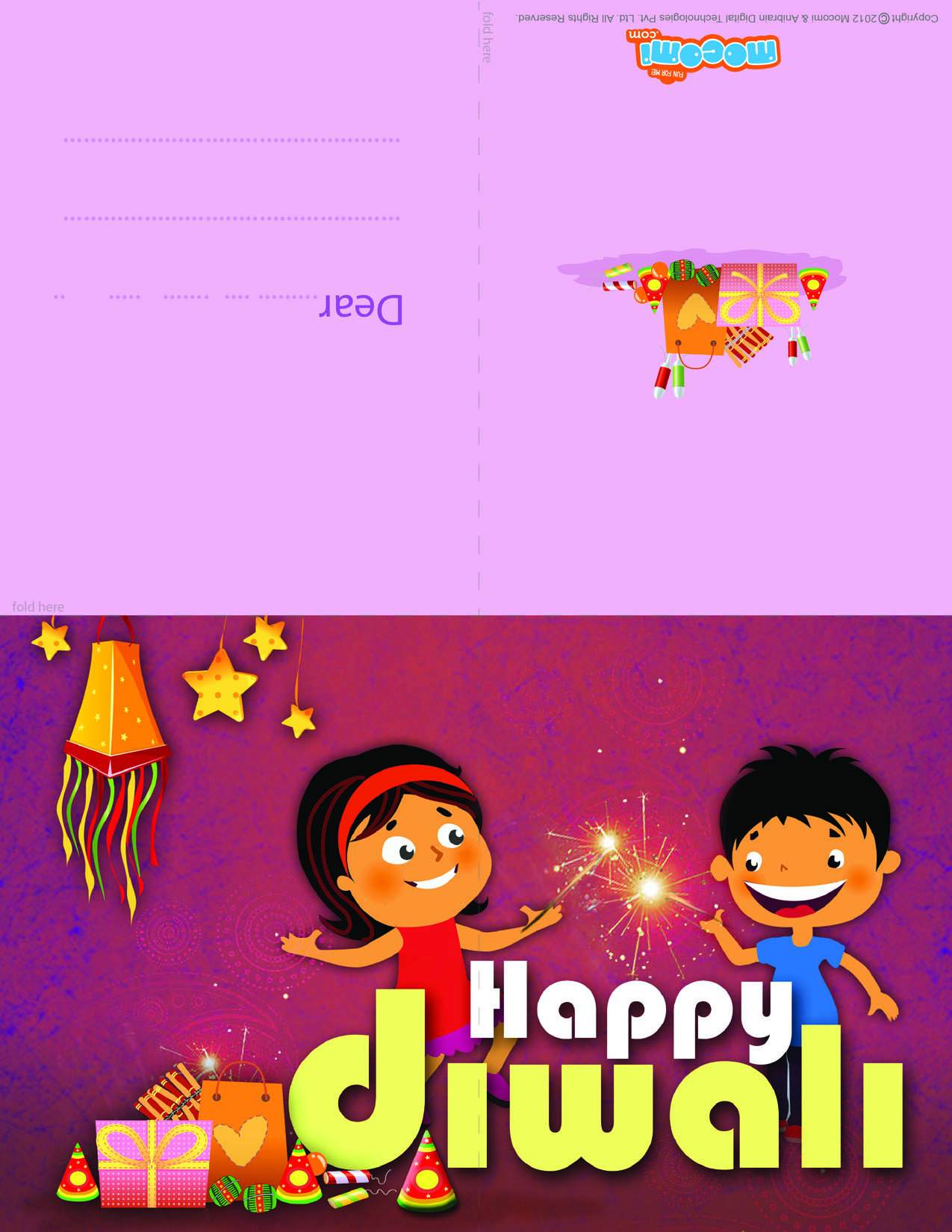 Happy Diwali! (Printable Card for Kids)