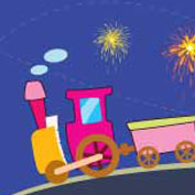 Diwali Greetings - Toy Train (Printable Card for Kids)