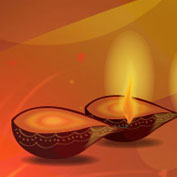 Diwali diyas (Printable Card for Kids)