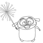 Loris wishes you a Happy Diwali! - Colouring Page
