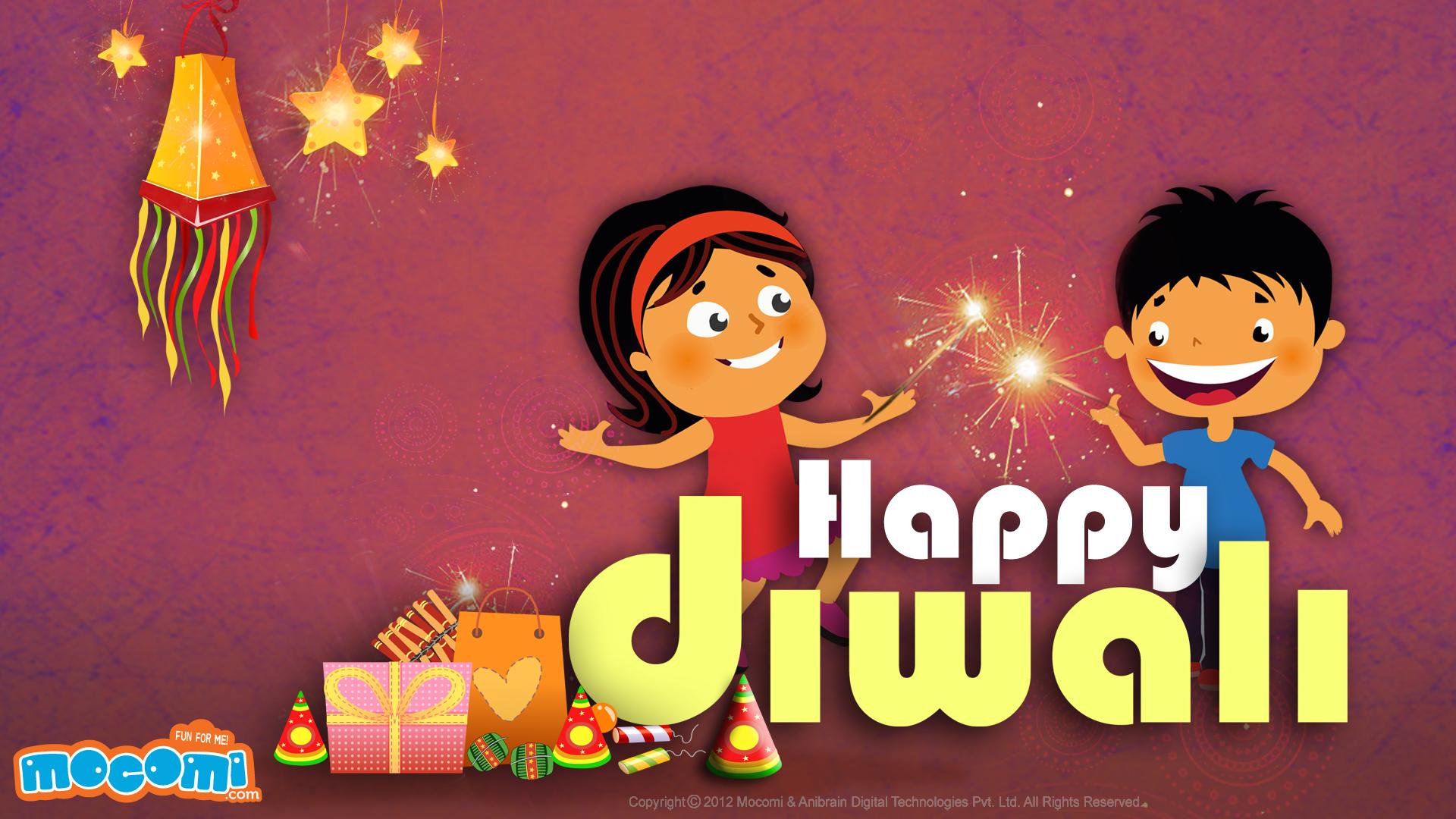 Happy Diwali Desktop Wallpapers for Kids