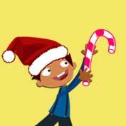 Merry Christmas – Mocomi Boy (Printable Card for Kids)