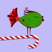 Christmas Birds (Printable Card for Kids)