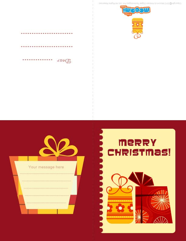 Christmas Gifts 2 (Printable Card for Kids)