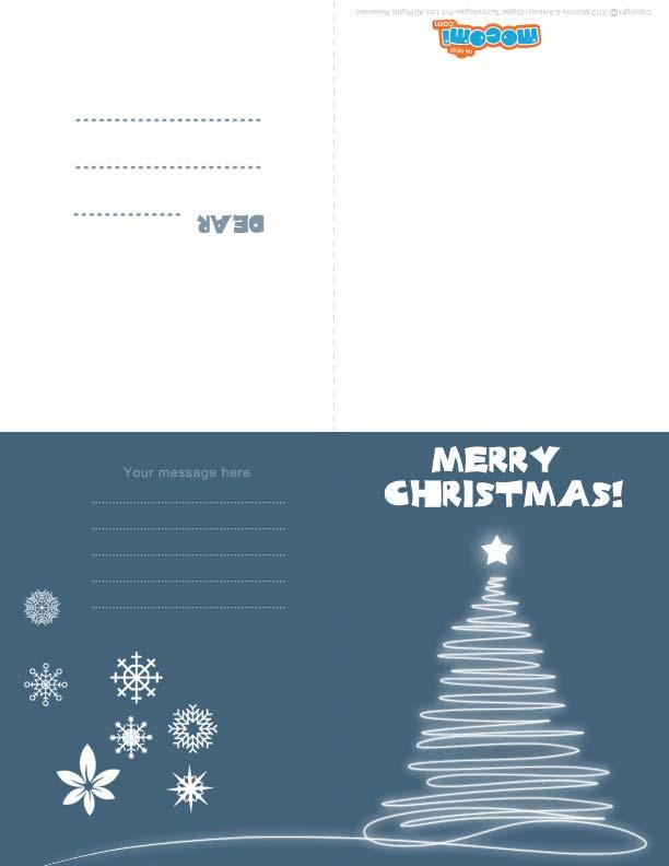 Christmas Light (Printable Card for Kids)
