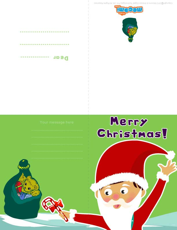 Gifts from Santa (Printable Card for Kids)