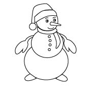 Cute Snowman - Colouring Page