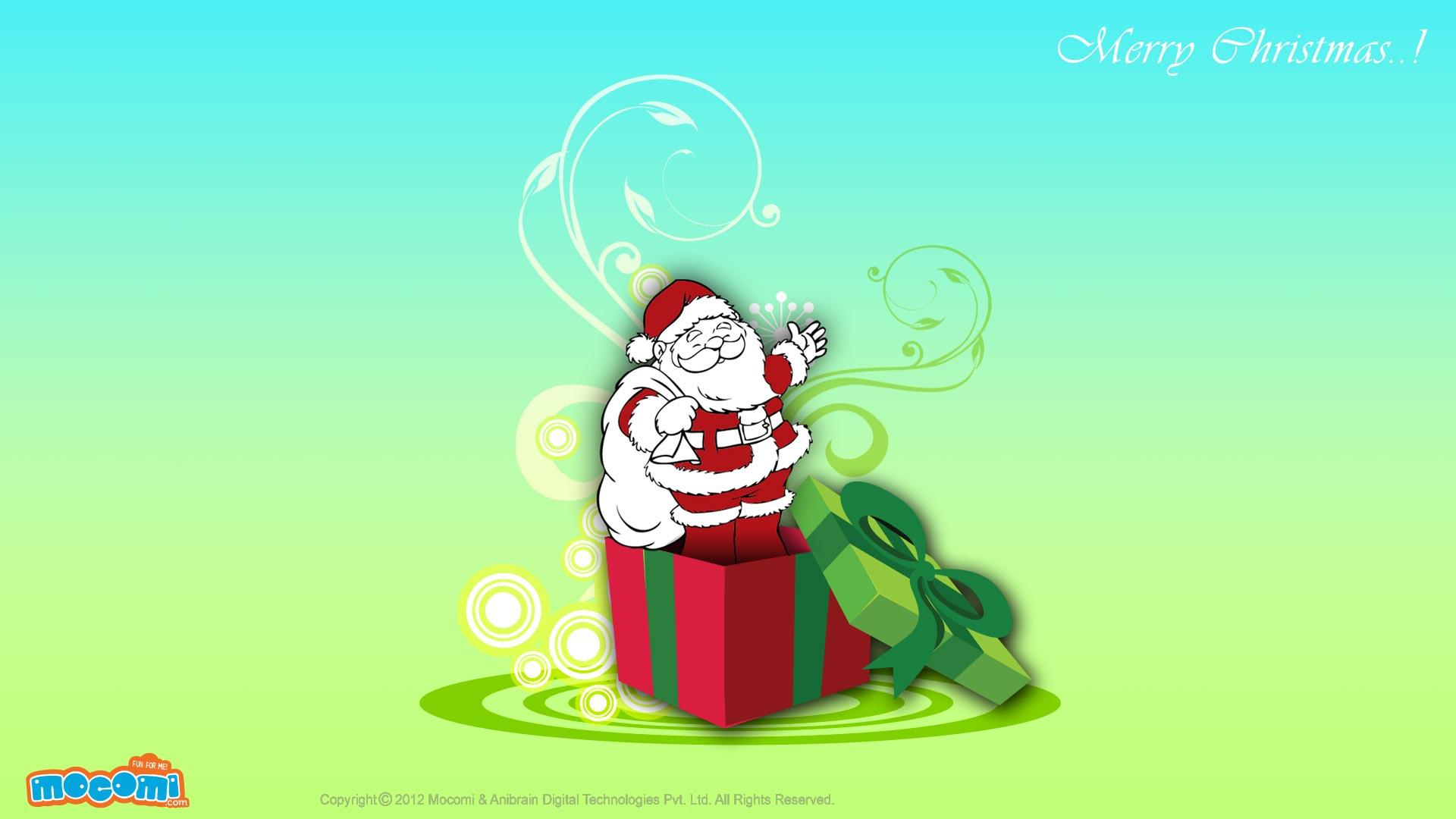 Santa in a gift