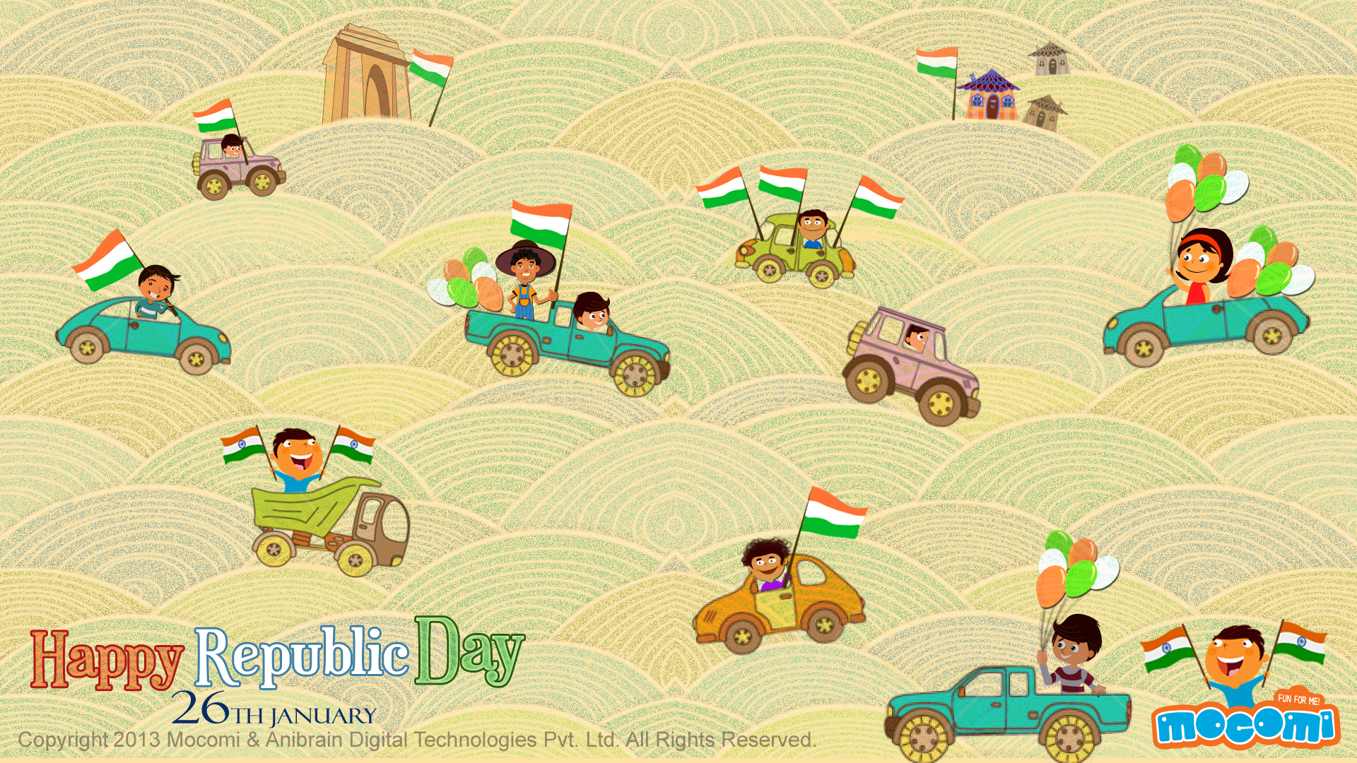 Happy republic day 26th january desktop wallpapers for for 26 january decoration