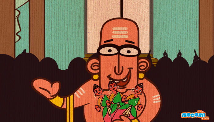 Tenali Raman And The Three Dolls Tenali Raman Stories Mocomi