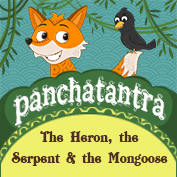 Panchatantra: The Heron, the Serpent and the Mongoose