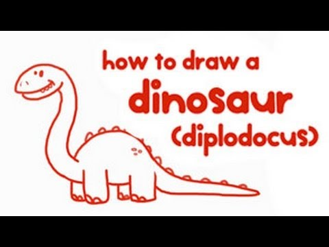how to draw a dinosaur for kids