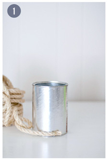Tin Can Flower Vase