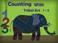Counting with tribal art (1-5) – Flash Cards