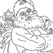Merry Christmas- Santa Claus and Toys