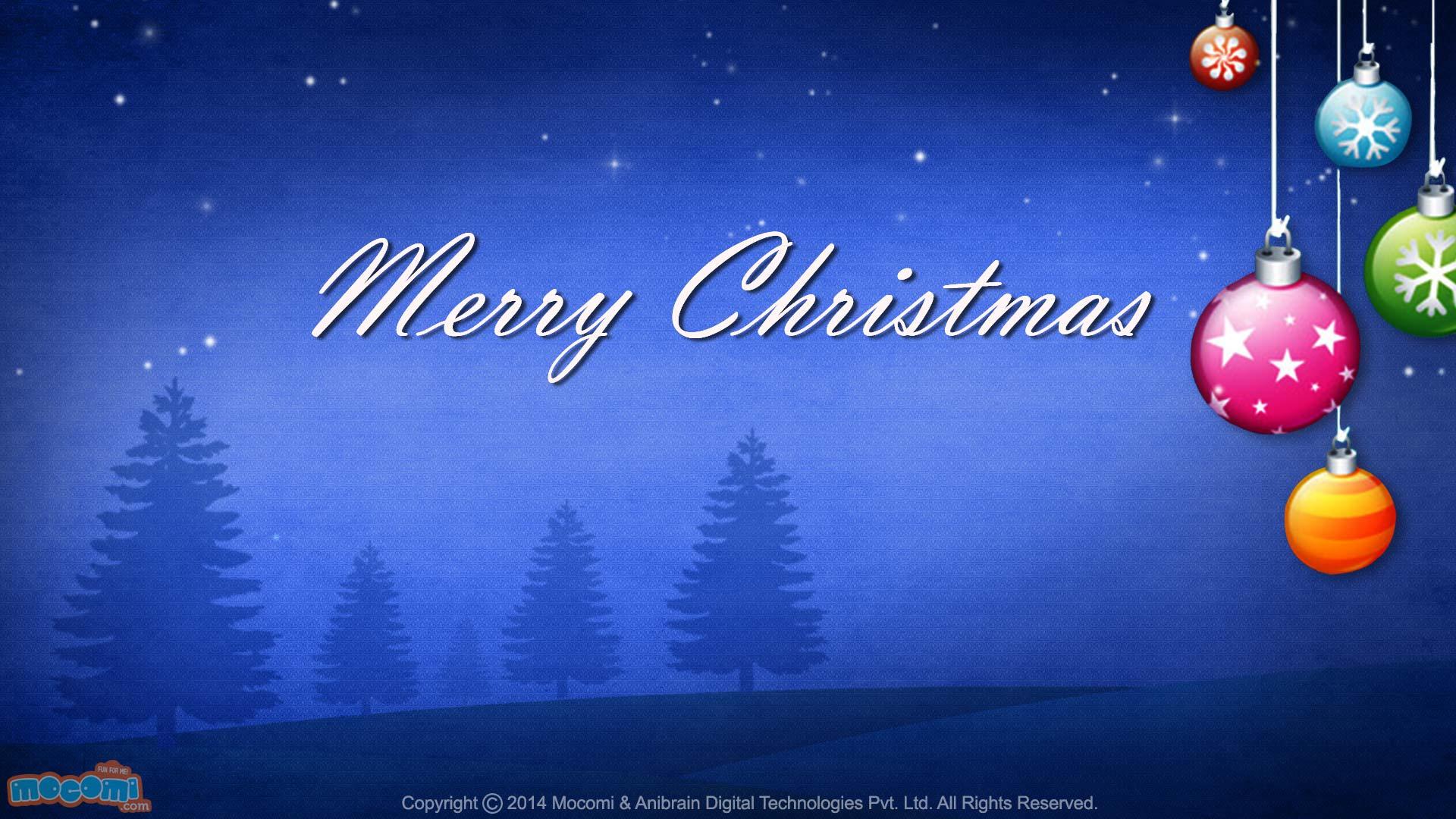 Merry Christmas- Night - Desktop Wallpapers for Kids | Mocomi