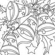 Merry Christmas- Bells - Colouring Page