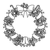 Merry Christmas- Decoration - Colouring Page
