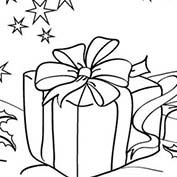 Merry Christmas- Gifts - Colouring Page