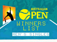 Australian Open winners list- Men's Singles