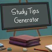 Study Tips Generator