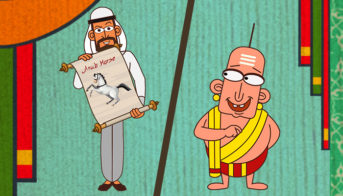 Tenali Raman And The Arab Horse Trader Tenali Raman Stories Mocomi