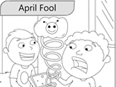 April Fool Colouring Page