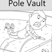 Pole Vault Colouring Page