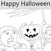 Happy Halloween - Colouring Page