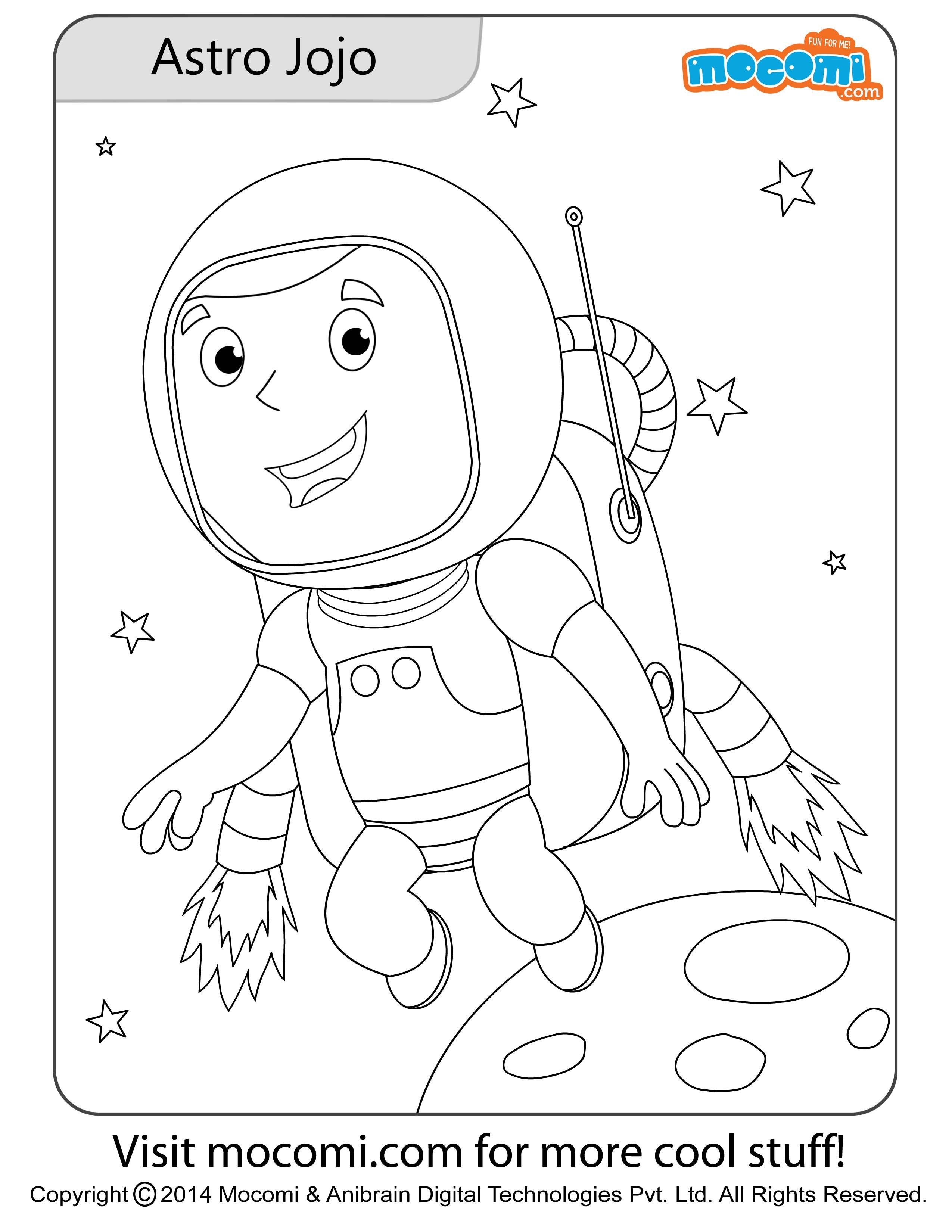 Astronaut Jojo Colouring Page