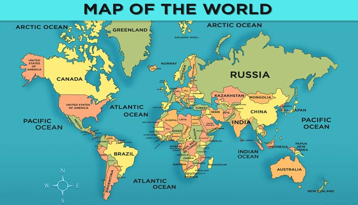 graphic relating to Printable World Map With Countries titled International Map with International locations - In general Practical experience for Young children Mocomi