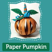 Paper Pumpkin : Halloween Craft