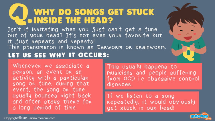 Why do Songs get stuck inside the head?