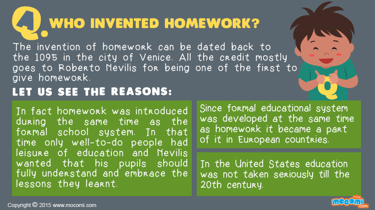Who Invented Homework?