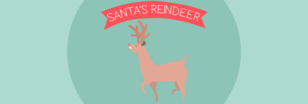 Names of Santa's Reindeer - Slider