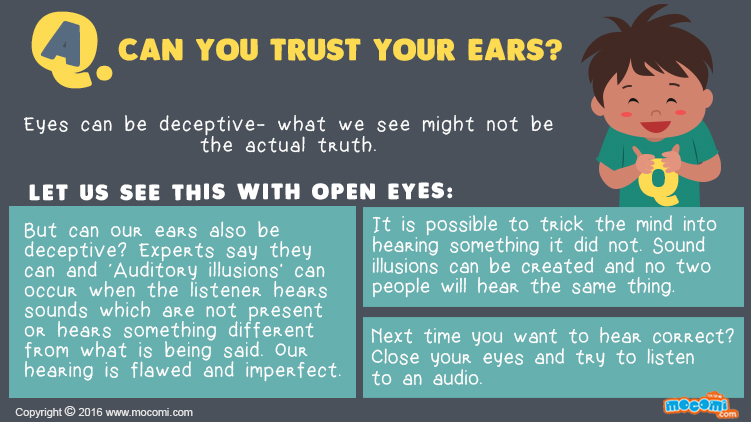 Can you trust your ears?