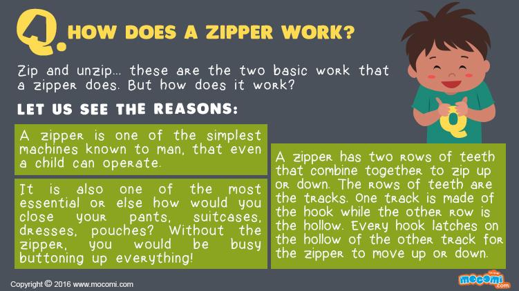 How does a Zipper Work?