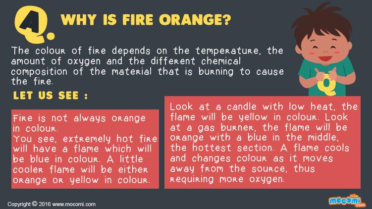 Why is Fire Orange?