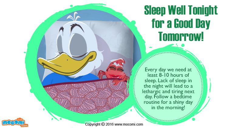 Sleep Well Tonight for a Good Day Tomorrow!