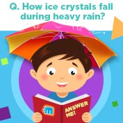How Ice Crystals fall during heavy Rain?