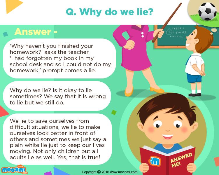 why do kids lie