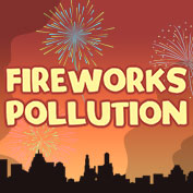 How do firecrackers pollute the environment?