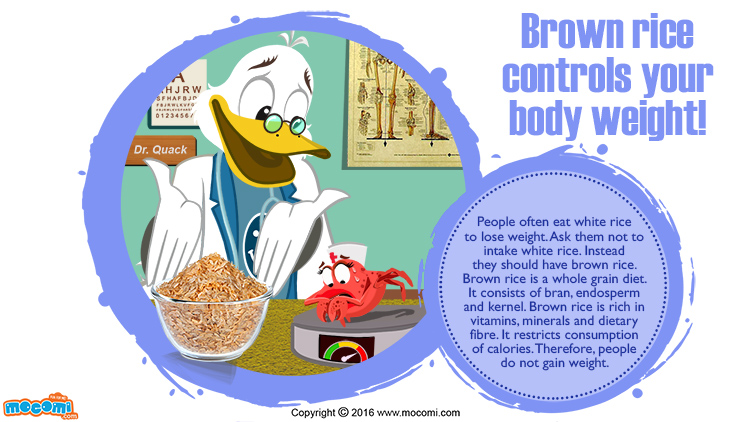 Brown Rice controls your body weight!